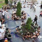 Під час встановлення всеукраїнського рекорду - найдовшого ланцюга з пластових хусток